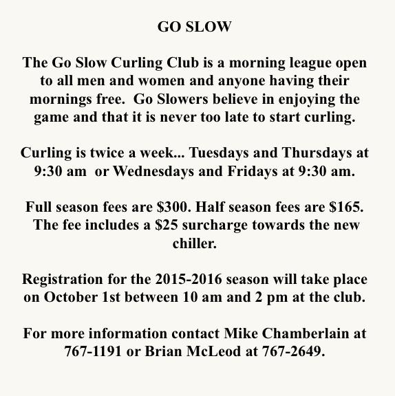 Go Slow info  2015
